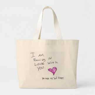 i AM FALLiNG iN LOVE WiTH YOU HEARt SOUL Large Tote Bag