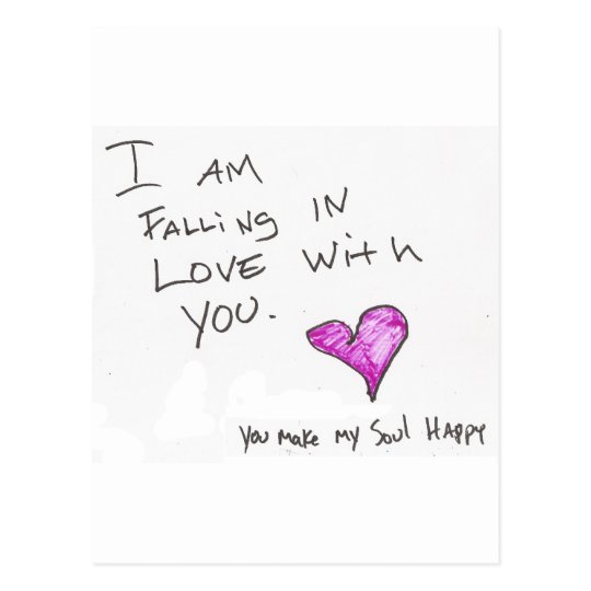 i AM FALLiNG iN LOVE WiTH YOU HEARt SOUL Postcard