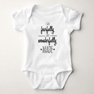 I am fearfully and wonderfully made baby bodysuit