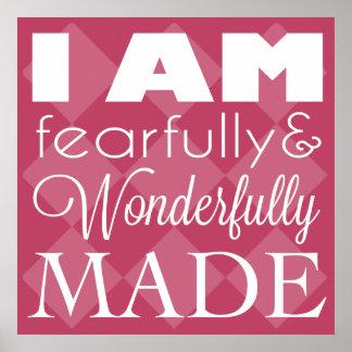 I am Fearfully and Wonderfully Made - Wall Art