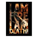I Am Fire I Am Death! Postcard