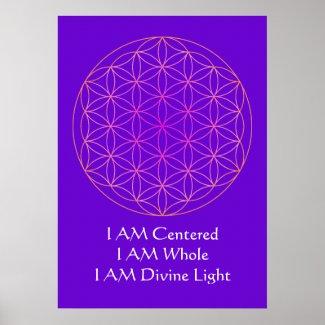 I AM Flower of Life Meditation Poster