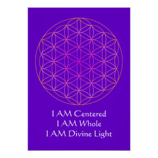 I AM Flower of Life Meditation Poster