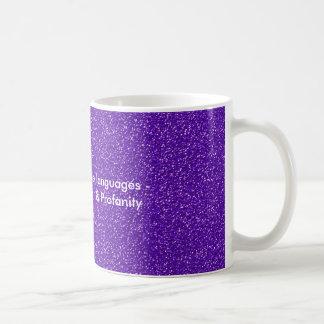 I am fluent in three languages classic white coffee mug