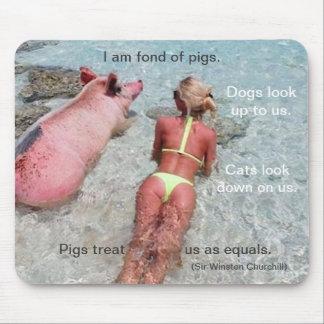 I Am Fond of Pigs - Mousepad