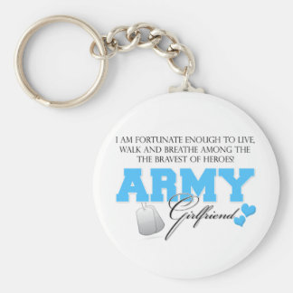 I am Fortunate - Army Girlfriend Basic Round Button Keychain