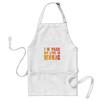 I am free, my life is music adult apron