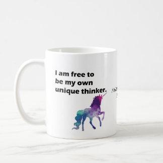 I am free to be my own unique thinker mug