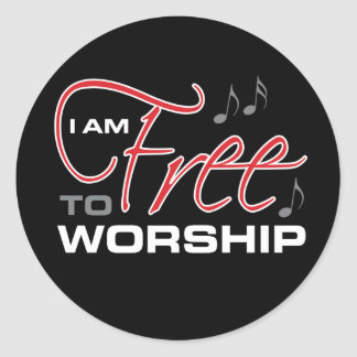 I Am Free To Worship - Joel Osteen Classic Round Sticker