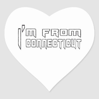 I am from Connecticut Heart Sticker
