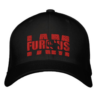 I AM FURIOUS Red Logo Wool Stretch Cap Embroidered Hat
