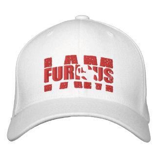 I AM FURIOUS Red Logo Wool Stretch White Cap Baseball Cap