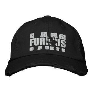 I AM FURIOUS White Logo Distressed Cap