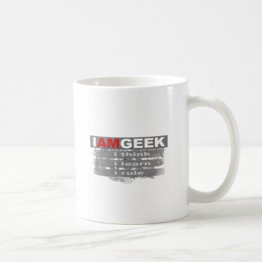 I am geek coffee mug