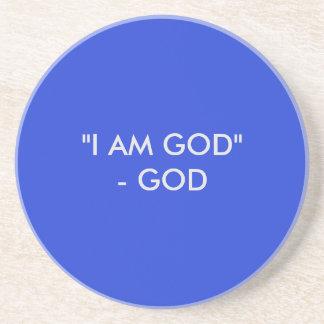 """I AM GOD"" DRINK COASTER"
