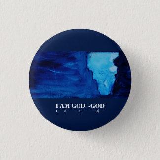 I AM GOD.-GOD PINBACK BUTTON