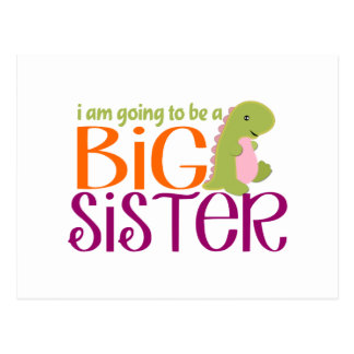 I am going to be a Big Sister- Dinosaur Postcard