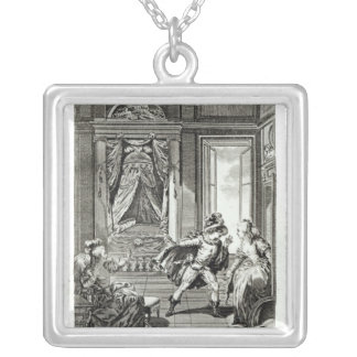 I am going to kill him...' silver plated necklace