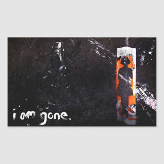 i am gone. rectangular stickers