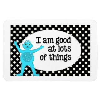 I Am Good At Things Affirmations White Polka Dots Rectangular Photo Magnet