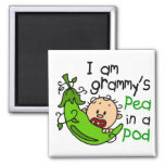 I am Grammy's Pea In A Pod 2 Inch Square Magnet