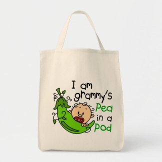 I am Grammy's Pea In A Pod Tote Bag