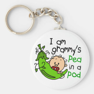I am Grammy's Pea In A Pod Keychain