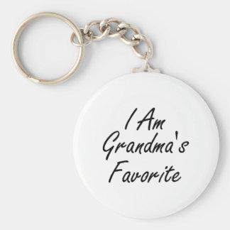 I Am Grandmas Favorite Keychain