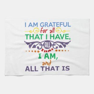 I Am Grateful Towel