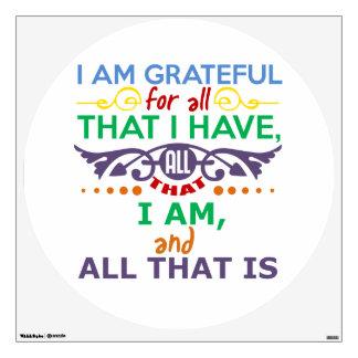I Am Grateful Wall Sticker