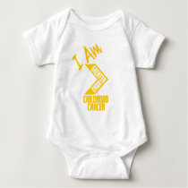 I Am Greater Than Childhood Cancer Baby Bodysuit