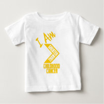 I Am Greater Than Childhood Cancer Baby T-Shirt