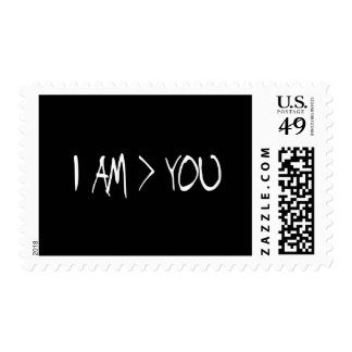 i AM GREATER THAN YOU Postage