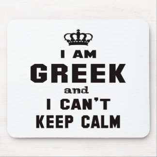 I am Greek and i can't keep calm Mouse Pad