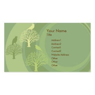 I Am Green Bird Custom Business Card