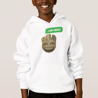 """""""I Am Groot"""" Text Emoji Hoodie"""