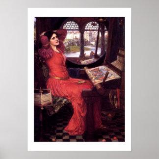 I am Half Sick Of Shadows - Lady Of Shallot Poster