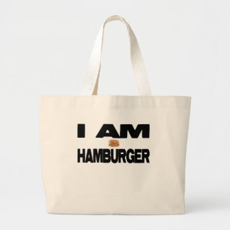 I Am Hamburger Jumbo Tote Bag
