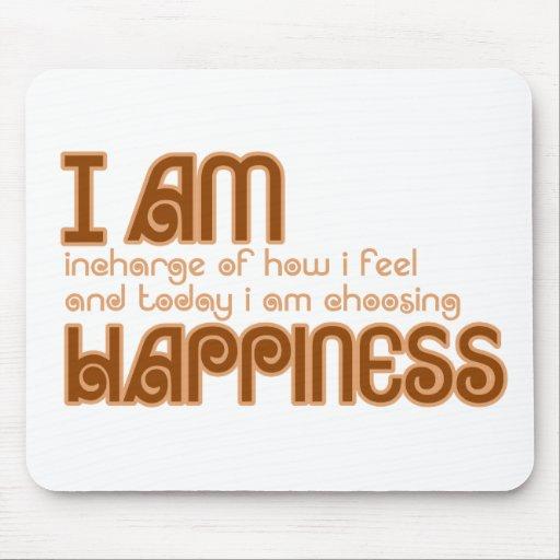 I am happiness mousepads