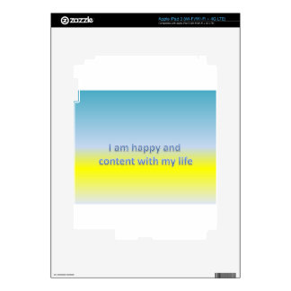 I am happy and  content with my life iPad 3 skins