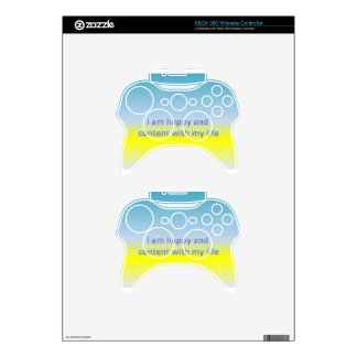 I am happy and  content with my life xbox 360 controller decal