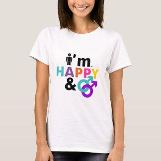 I Am Happy Gay & Okay LGBT T-Shirt