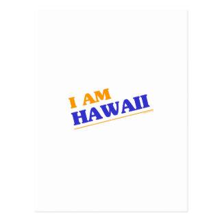 I am Hawaii shirts Postcard