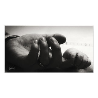 I am here - Baby Silas and Father Photo Print