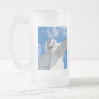 I Am Here Frosted Glass Beer Mug