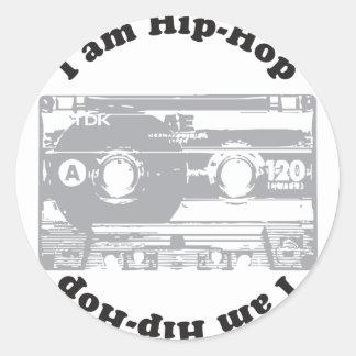 I Am Hip-Hop Classic Round Sticker