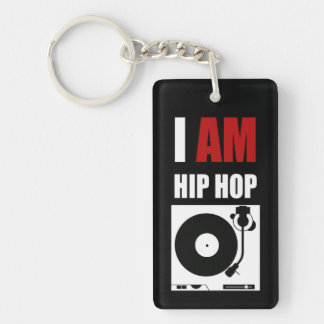 """I AM HIP HOP"" RED LETTER KEYCHAIN"