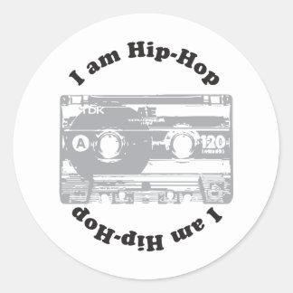 I Am Hip-Hop Round Sticker