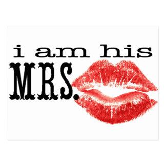 I am His Mrs. Postcard