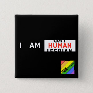 I AM HUMAN Square Button